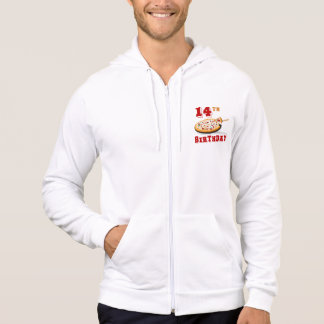 14th Birthday Pizza Party Hooded Pullover