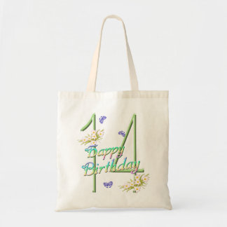 14th Birthday Rainbows and Butterflies Budget Tote