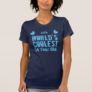 14th Birthday Worlds Coolest 14 Year Old J14A T Shirt