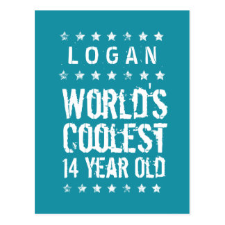 14th Birthday World's Coolest 14 Year Old Teal T14 Postcard