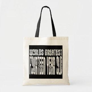14th Birthday : Worlds Greatest Fourteen Year Old Canvas Bag