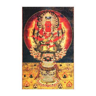 14th century Buddhist Aizen Myoo Canvas Print