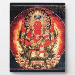 14th century Buddhist Aizen Myoo Painting Display Plaques