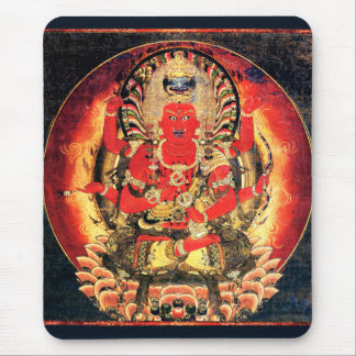 14th century Buddhist Aizen Myoo Painting Mouse Pad