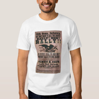 14th Connecticut Infantry Recruitment Poster Tee Shirts
