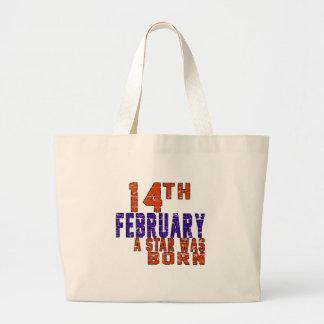 14th February a star was born Jumbo Tote Bag