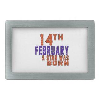 14th February a star was born Rectangular Belt Buckles