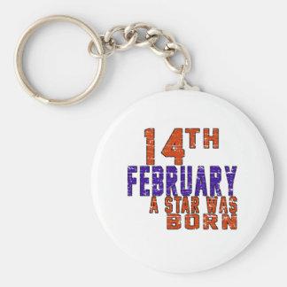 14th February a star was born Basic Round Button Keychain
