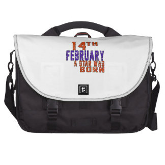 14th February a star was born Bags For Laptop