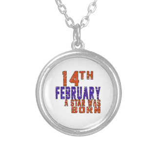 14th February a star was born Round Pendant Necklace