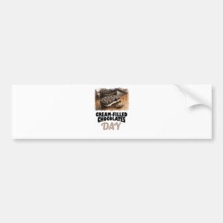 14th February - Cream-Filled Chocolates Day Bumper Sticker