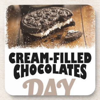 14th February - Cream-Filled Chocolates Day Drink Coaster