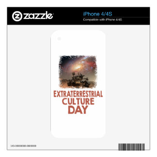 14th February - Extraterrestrial Culture Day Skin For iPhone 4