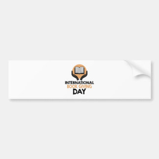 14th February - International Book Giving Day Bumper Sticker