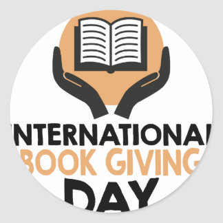 14th February - International Book Giving Day Classic Round Sticker