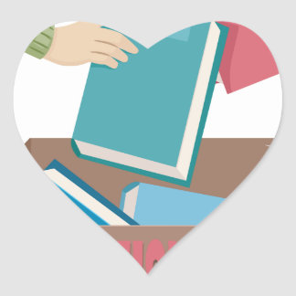 14th February - International Book Giving Day Heart Sticker