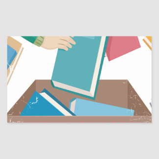 14th February - International Book Giving Day Rectangular Sticker