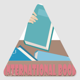 14th February - International Book Giving Day Triangle Sticker