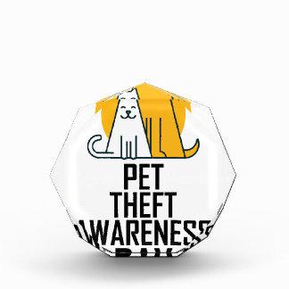 14th February - Pet Theft Awareness Day Acrylic Award