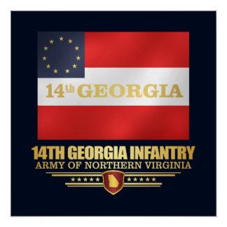 14th Georgia Infantry Poster