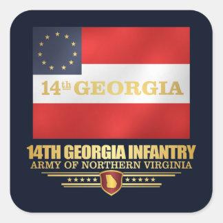 14th Georgia Infantry Square Sticker