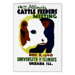 14th Illinois Cattle Feeders Meeting - WPA Poster Card