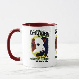14th Illinois Cattle Feeders Meeting - WPA Poster Mug