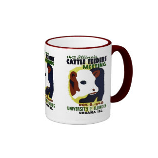 14th Illinois Cattle Feeders Meeting - WPA Poster Ringer Mug