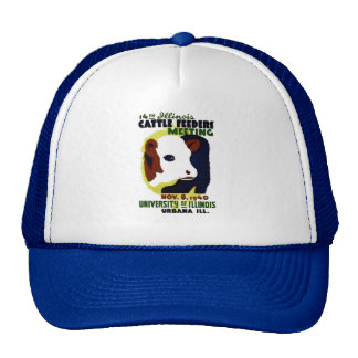14th Illinois Cattle Feeders Meeting - WPA Poster Trucker Hat