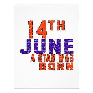 14th June a star was born Letterhead Design