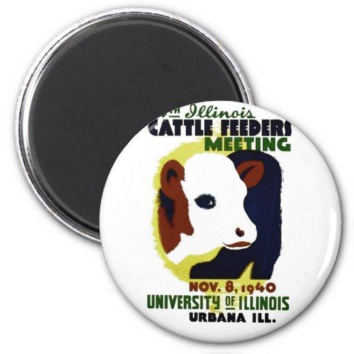 14to Alimentadores del ganado de Illinois que se e Iman