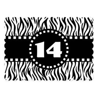 14to Cebra blanco y negro W14A de la fiesta de Comunicado
