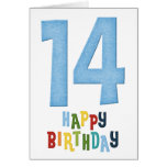 14to Diseño de tarjeta del feliz cumpleaños 2