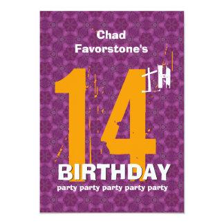14to Fiesta de cumpleaños resistida moderna del Comunicados
