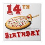 14to Fiesta de la pizza del cumpleaños Teja Ceramica