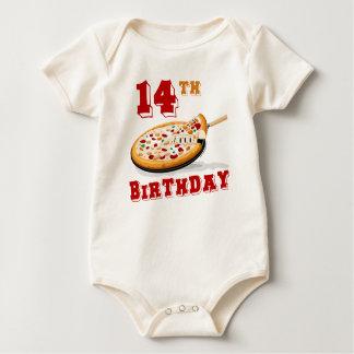 14to Fiesta de la pizza del cumpleaños Mameluco De Bebé
