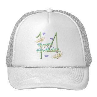 14to Gorra del jardín de la mariposa del cumpleaño