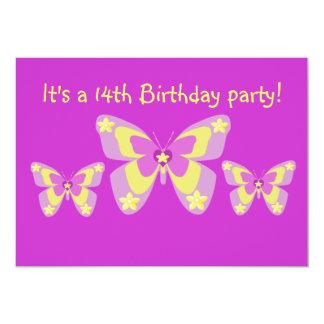 14to Invitación de la fiesta de cumpleaños,