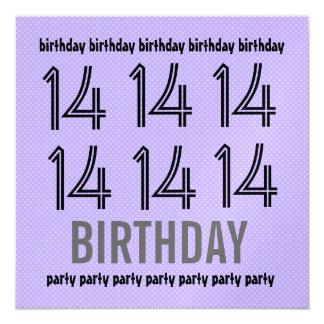 14to La fiesta de cumpleaños invita al lunar Invitación Personalizada