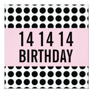 14to Lunares A14A de la plantilla de la fiesta de Invitacion Personalizada