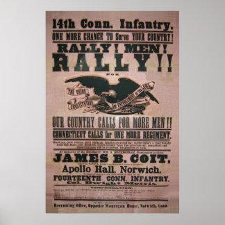 14to Poster del reclutamiento de la infantería de