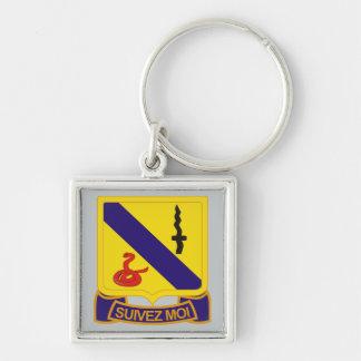 14to Regimiento de caballería acorazada Llavero Cuadrado Plateado