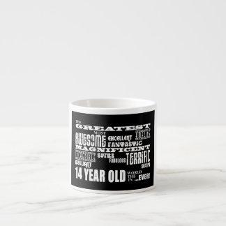 14tos años más grandes de la fiesta de cumpleaños taza espresso