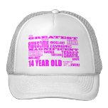 14tos cumpleaños de los chicas: 14 años más grande gorros bordados