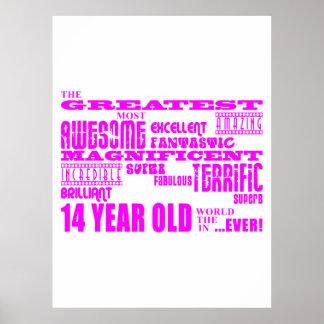 14tos cumpleaños de los chicas: 14 años más grande póster