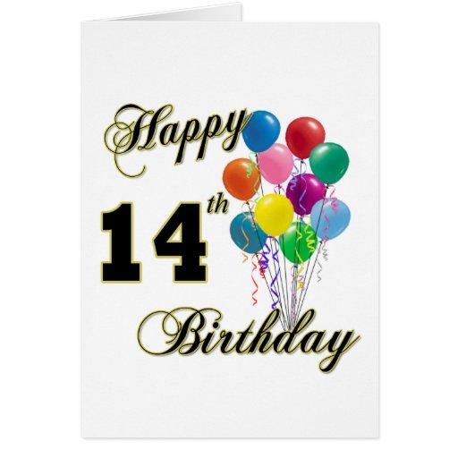 14tos regalos de cumpleaños y ropa felices del cum tarjeta de felicitación