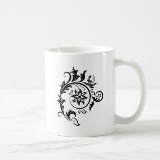 15011824-black-and-white-floral-design-element-iso classic white coffee mug
