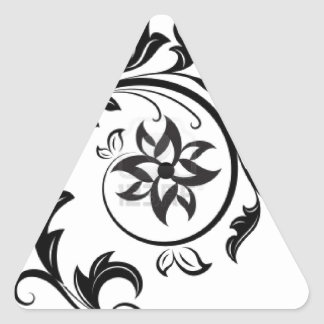 15011824-black-and-white-floral-design-element-iso triangle sticker