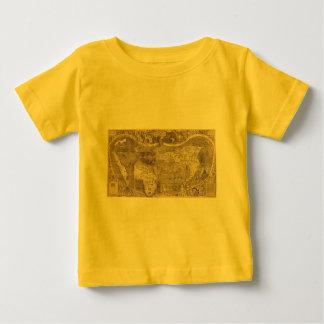 1507 Martin Waldseemuller World Map Baby T-Shirt