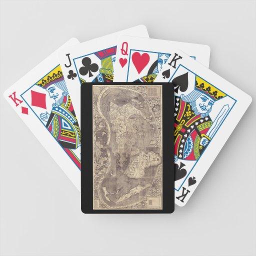 1507 Martin Waldseemuller World Map Bicycle Playing Cards